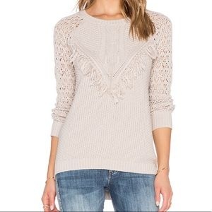 Autumn Cashmere Fringe Knit Sweater